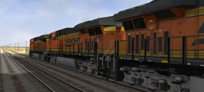 BNSF Gevo on Open Rails